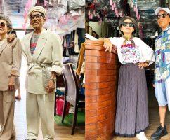 [FOTO] Warga Emas Ini OOTD Hanya Guna Baju Tinggalan Di Dobi, Dah Tua Pun Pandai Fesyen!