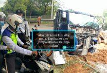 Jalan Tutup Akibat Kemalangan, Abang Polis Jadi 'Hero' Hantar Remaja Pergi Exam, Terbaik!