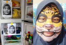 Anak Selalu Buka Peti Ais, Ibu Terpaksa Letak Gambar Maklong 'Harimau Merenung'