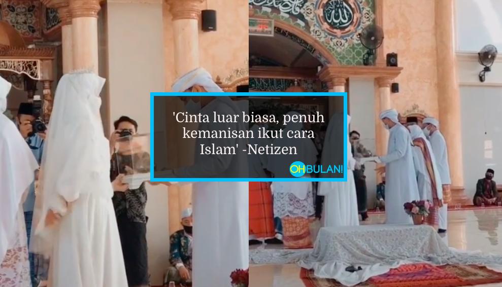 [VIDEO] Pasangan Baru Kahwin Gigil Nak Salam, Siap Main Tarik-Tarik Tangan..Sweetnya! 1