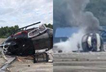 [VIDEO] Helikopter Terhempas, 2 Cedera, 3 Selamat