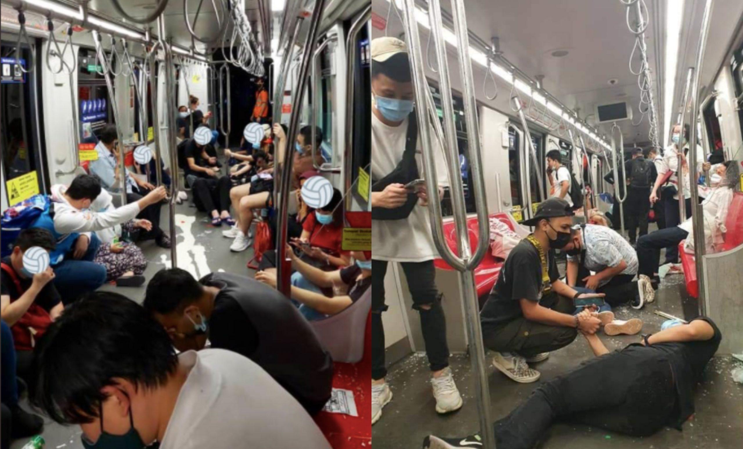 [FOTO] LRT Laluan Kelana Jaya Kemalangan, Usaha Menyelamat Sedang Dilakukan