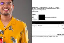 Untung Jual Sambal, Khairul Aming Derma RM10k Ke Tabung Amal Palestin