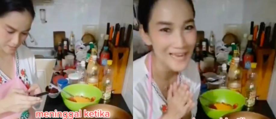 [VIDEO] Wanita Thailand Meninggal Dunia Semasa Buat 'Live' Masak Di Media Sosial