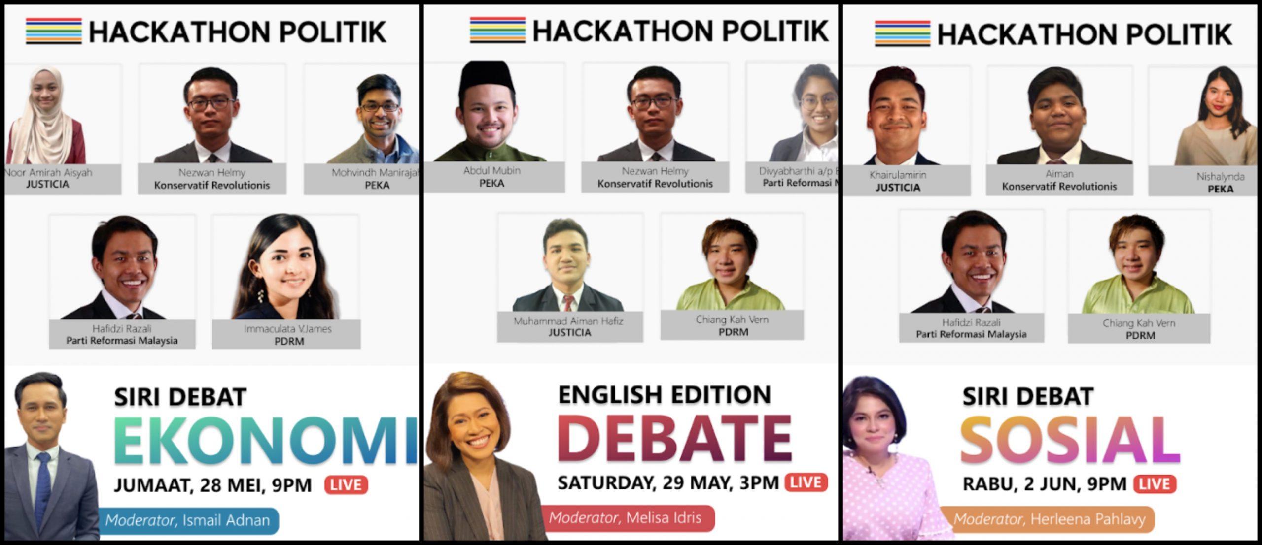 5 Parti Bakal Bertanding Di Hackathon Politik, Kini Giliran Anda Pula Untuk Menentukan. Jom Kita 'Mengundi'! 9