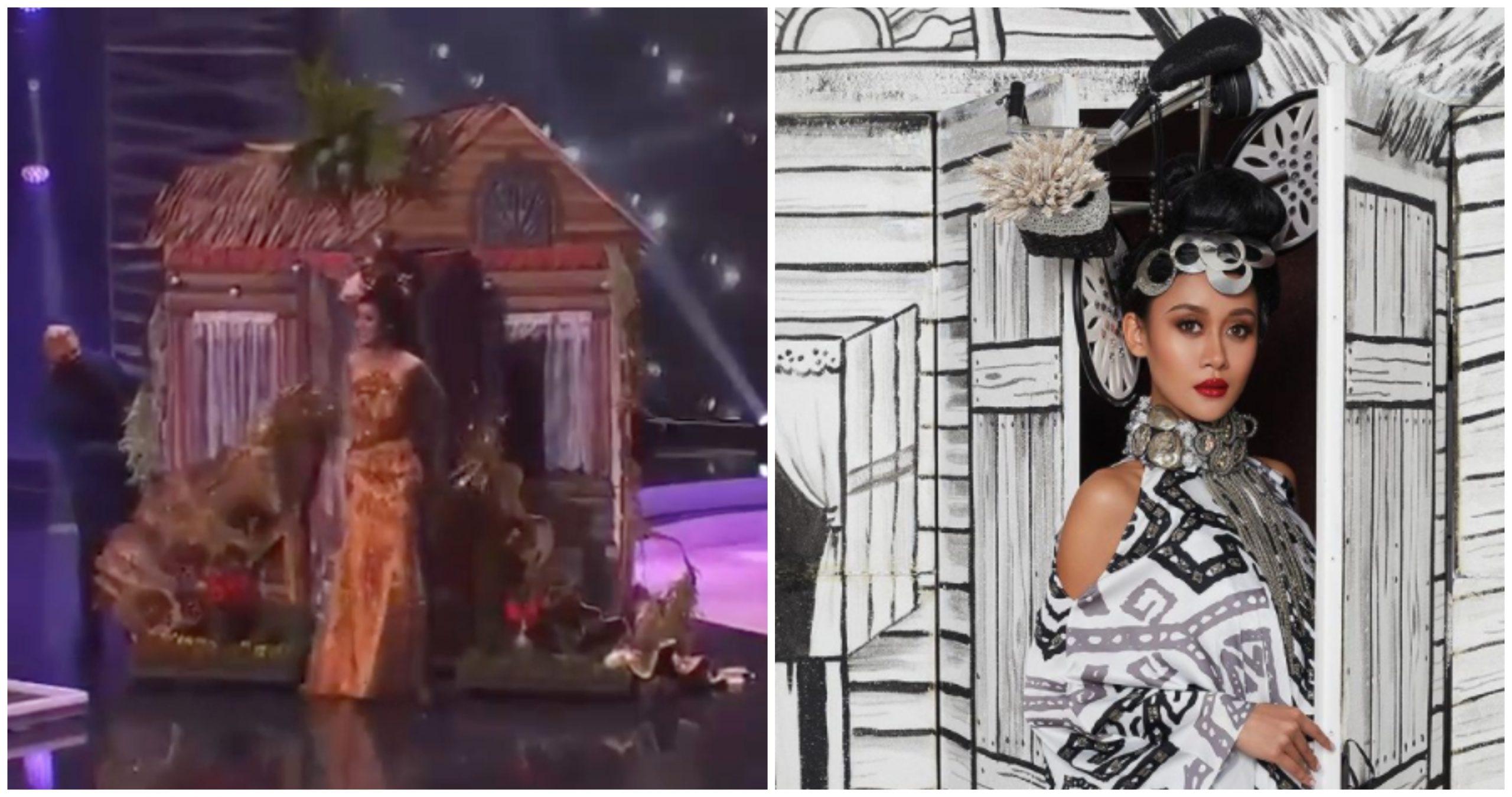 Miss Universe Malaysia Bawa Rumah Kampung Naik Pentas, Terima Pujian Netizen