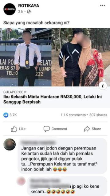 Dakwa Perempuan Kelantan 'Pisau Cukur', Pengotor, Komen Gadis Ini Undang Kecaman Ramai 5