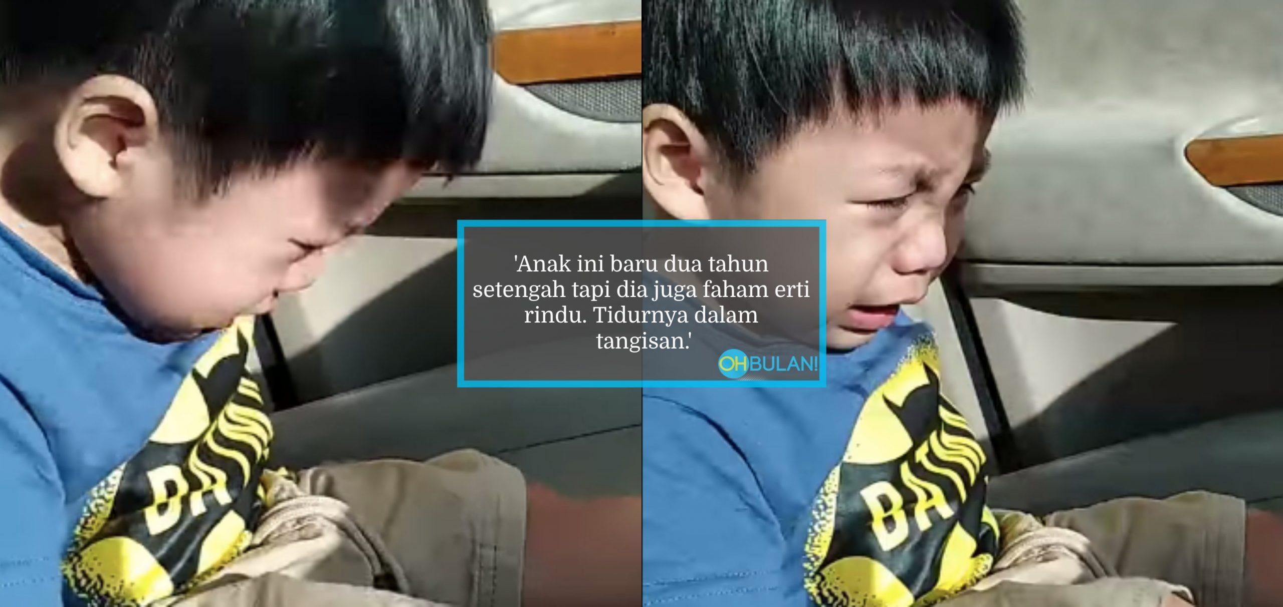 [VIDEO] 'Ibu..Ibu Pergi Mana' – Terkandas 2 Bulan Akibat PJJ, Anak Menangis Rindu Ibu Bikin Sebak