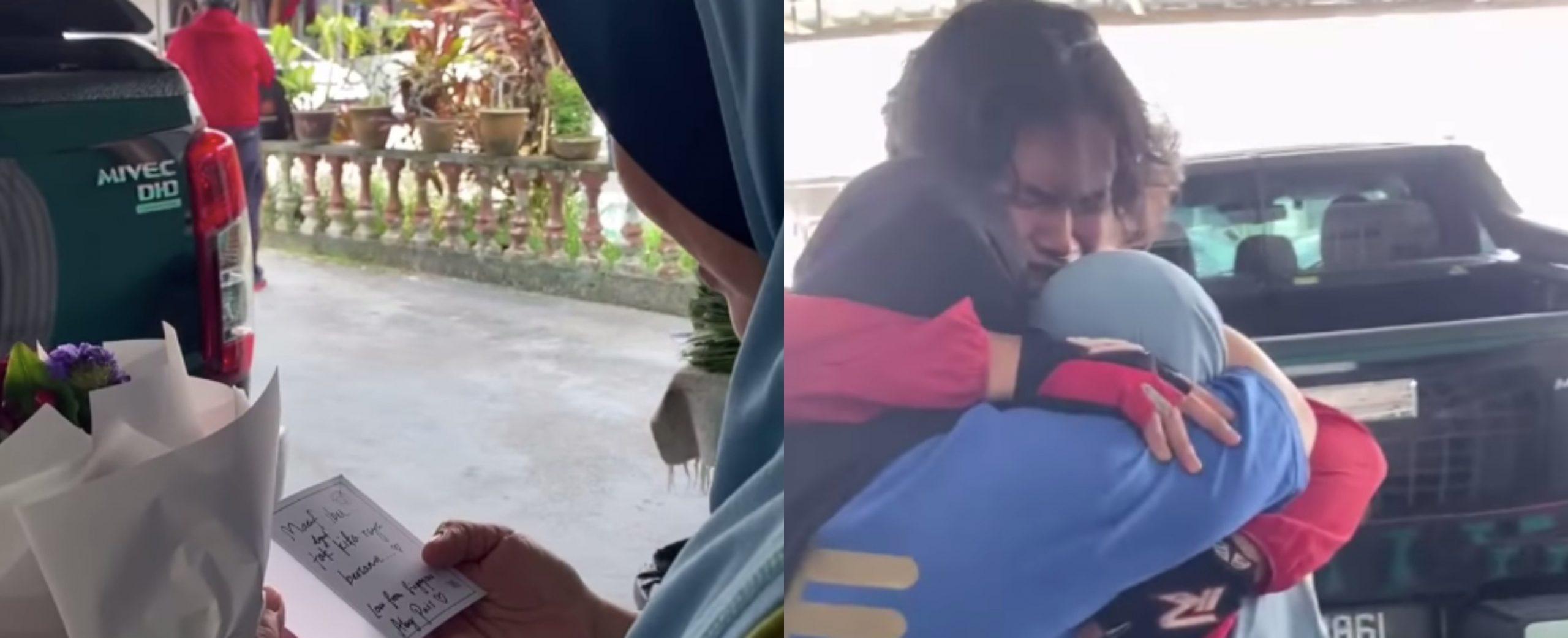 Setahun Terpisah, Anak Menyamar Jadi Rider Hantar Bunga, Tapi Naluri Ibu Memang Tak Pernah Salah!