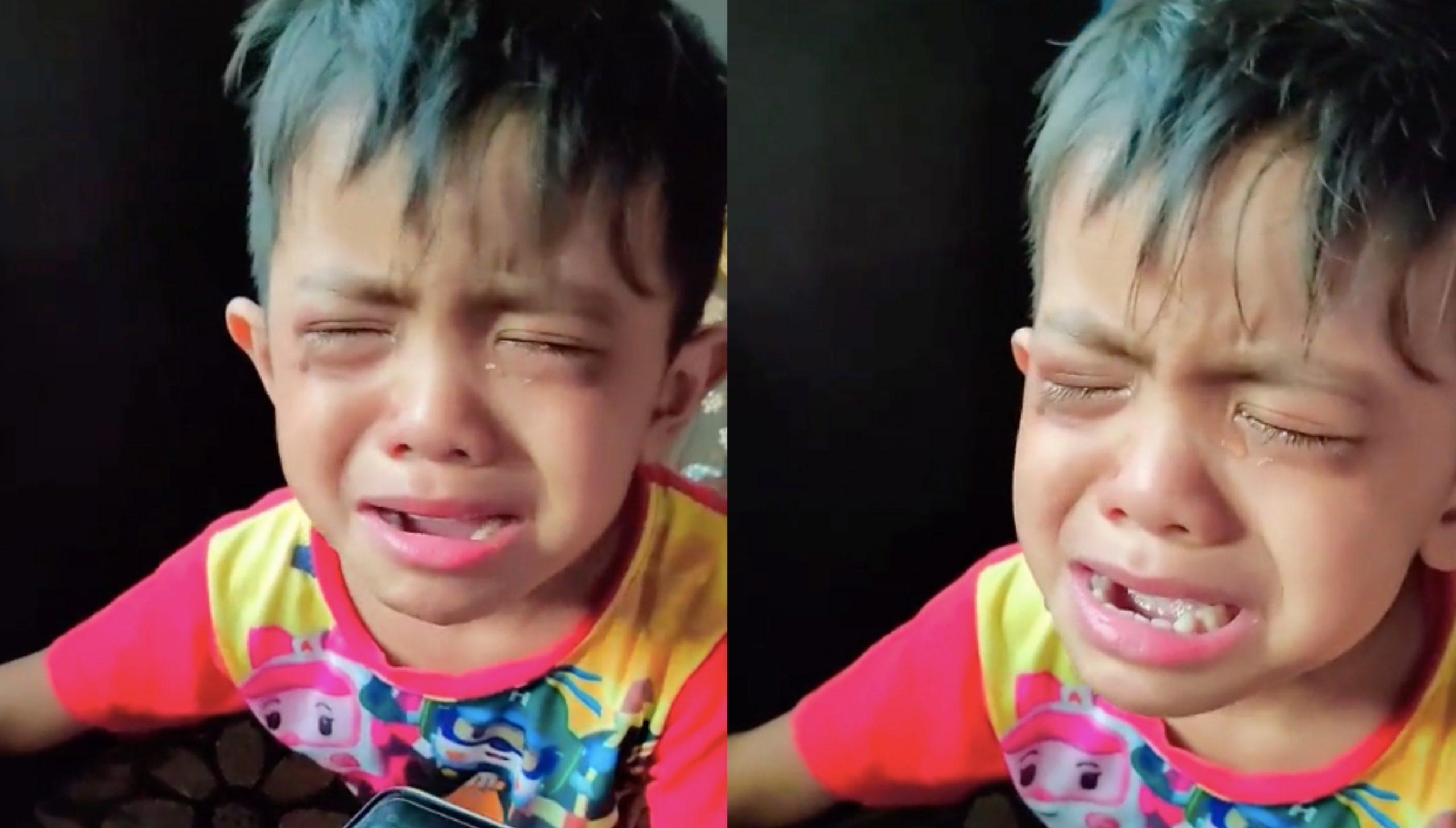 [VIDEO] Menangis Tak Nak Main Telefon Lagi Lepas Tengok Mata Lebam 4