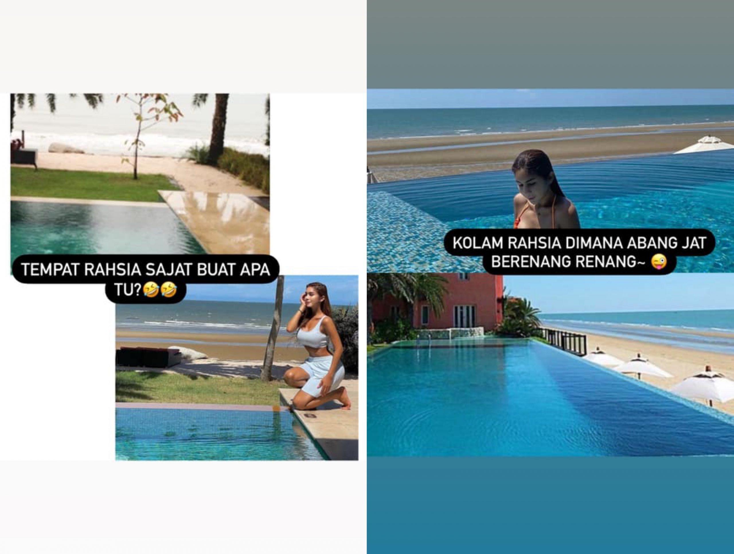 Kongsi Foto Tepi Pantai, Netizen Siasat Lokasi 'Rahsia' Sajat. Sebijik Macam Hotel Dekat… 10