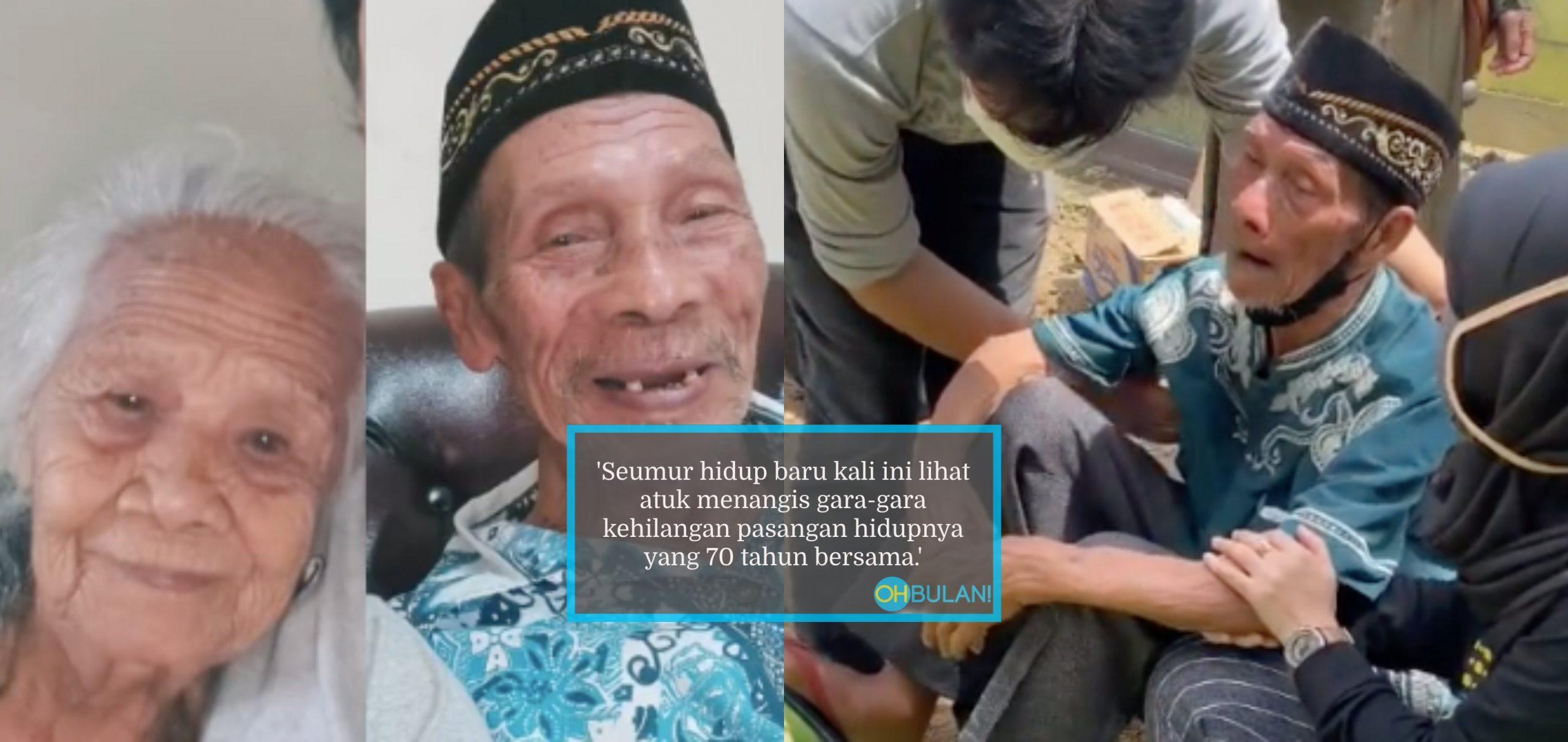 70 Tahun Hidup Bersama, Warga Emas Enggan Pulang Duduk Tepi Kubur Arwah Isteri