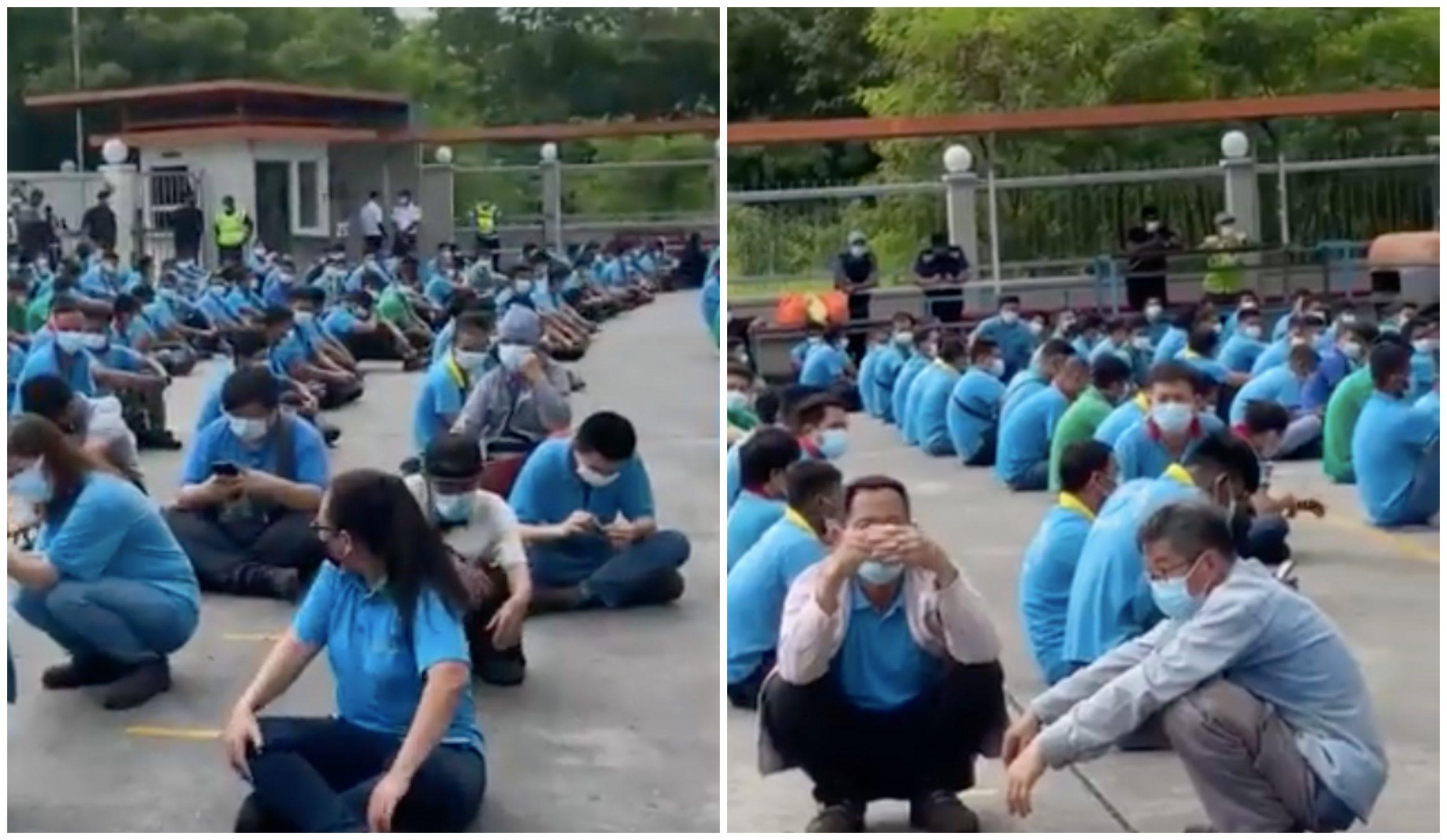 Kilang Diserbu, 350 Pekerja Ditahan Untuk Pemeriksaan. Netizen Minta Pihak Berkuasa Dedah Wajah Majikan