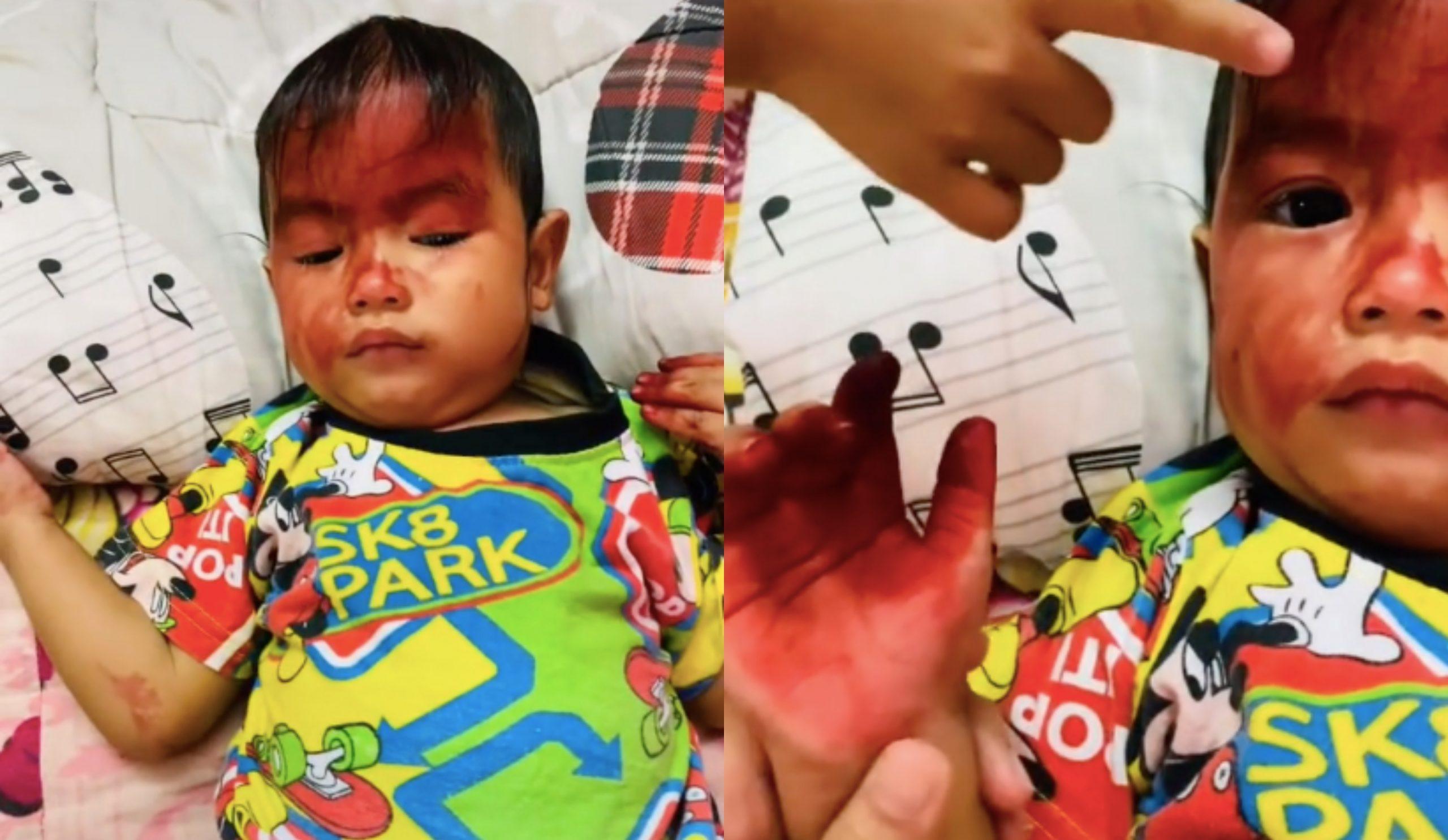 [VIDEO] Netizen Terhibur Kanak-Kanak Main Inai Celup Kakak, Habis Satu Muka – 'Berapa Lama Boleh Hilang Tu?' 4