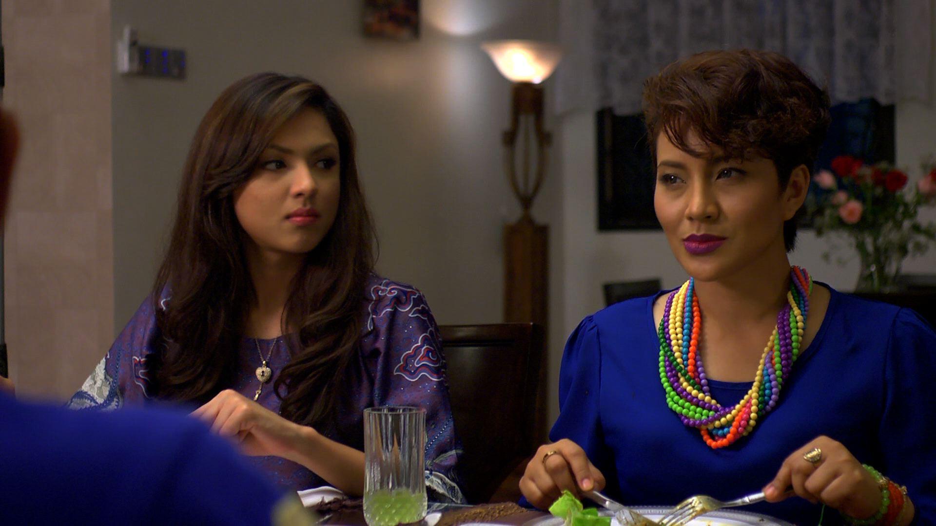 Aishah Ilias dan  Norish Karman dalam Love You Mr.Arrogant