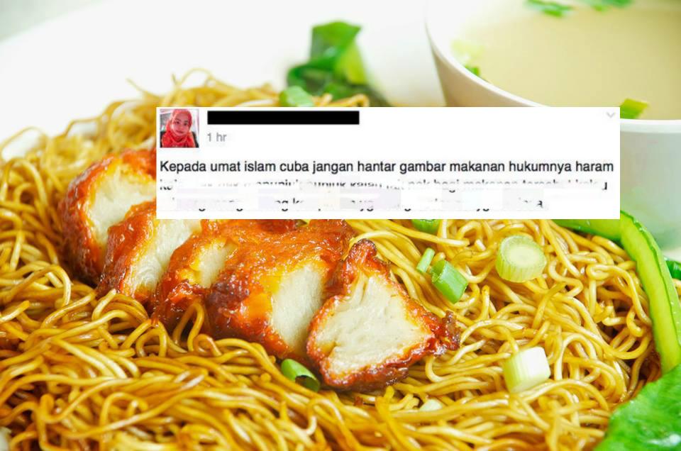 Menurut Wanita Ini Kita Semua Berdosa Kerana Share Foto Makanan Di