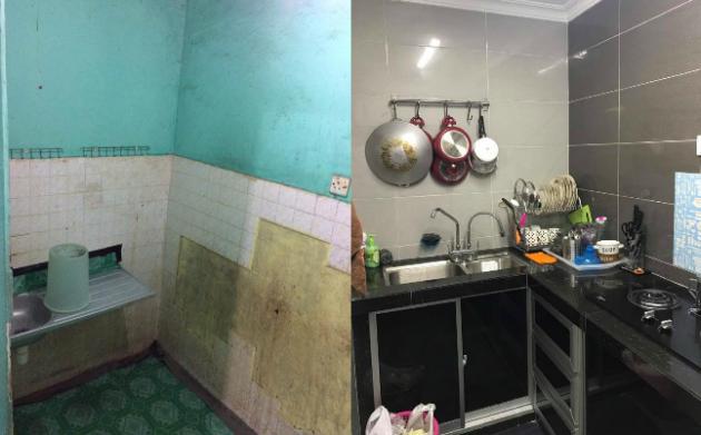 foto lihat bagaimana wanita ini ubahsuai rumah flat pkns