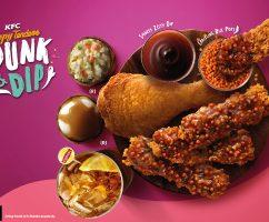 Jom Try KFC 'Dunk & Dip'. Sedap Weh. Confirm Ulang Makan!