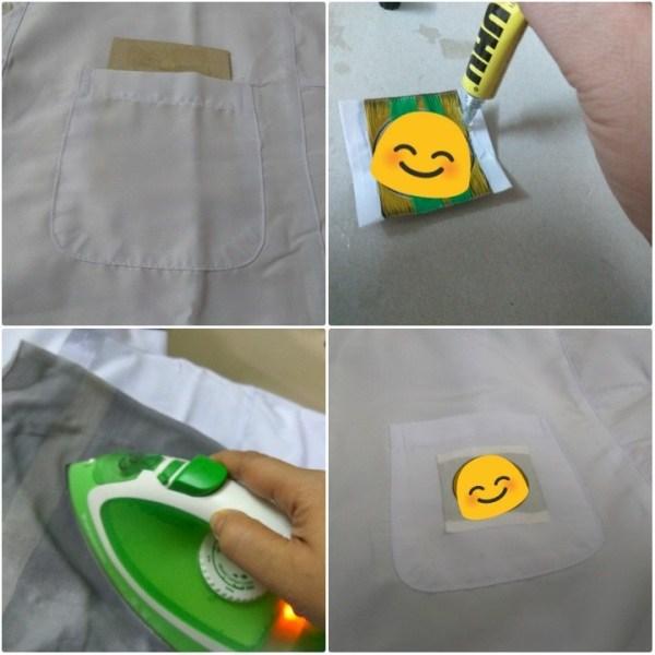 Tampal lencana di baju