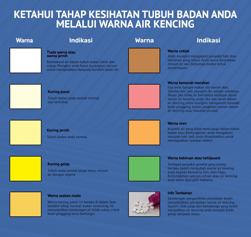 warna air kencing