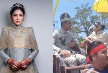 [FOTO & VIDEO] Majlis Bertandang Fasha Sandha Berkonsep Melayu Tradisional.. Cantik!